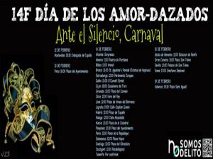 14F 'Día de los Amor-dazados' | 'Ante el silencio, Carnaval' | No somos delito | Del 12 al 19 de febrero de 2015