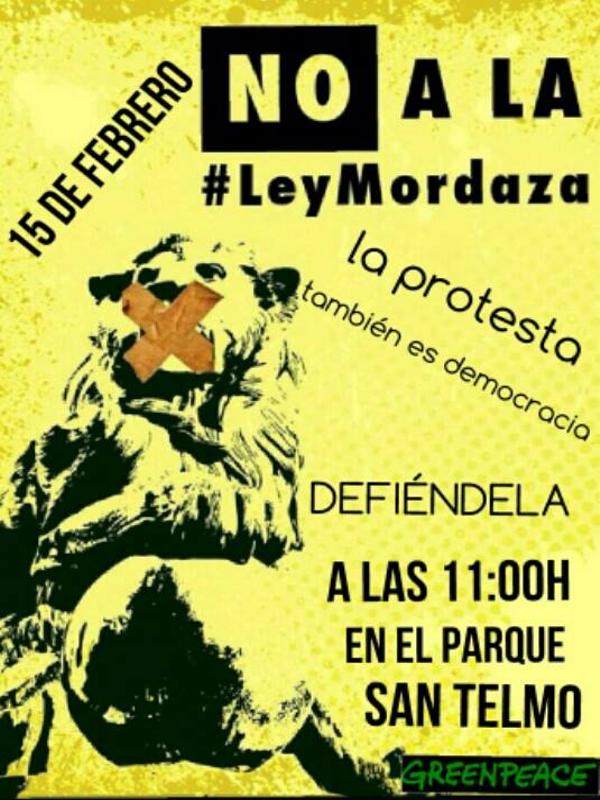 14F 'Día de los Amor-dazados'   'Ante el silencio, Carnaval'   No somos delito   Concentración Las Palmas de Gran Canaria    15 de febrero de 2015