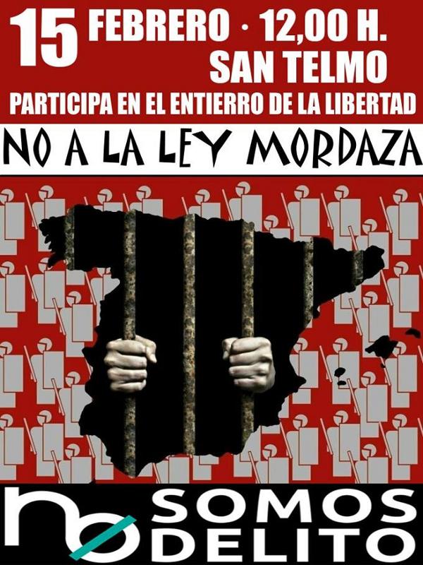 14F 'Día de los Amor-dazados'   'Ante el silencio, Carnaval'   No somos delito   Entierro de la Libertad Sevilla   15 de febrero de 2015