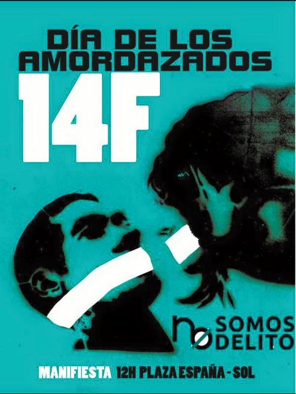 14F 'Día de los Amor-dazados'   'Ante el silencio, Carnaval'   No somos delito   Manifestación Madrid   14 de febrero de 2015
