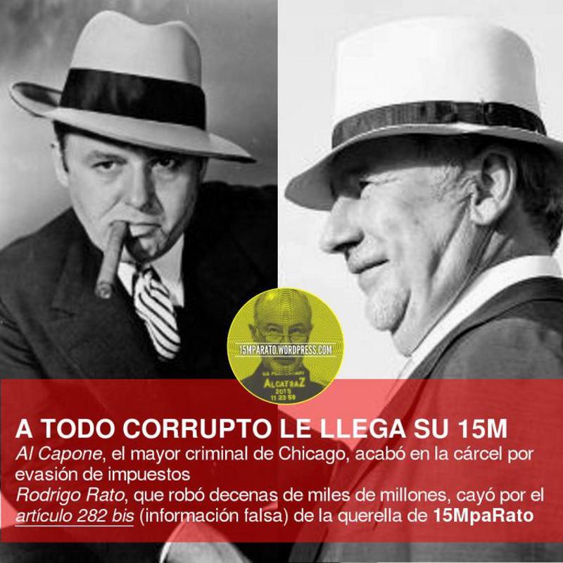 'A todo corrupto le llega su 15M' | Al Capone y Rodrigo Rato | 15MpaRato | Red Ciudadana Partido X