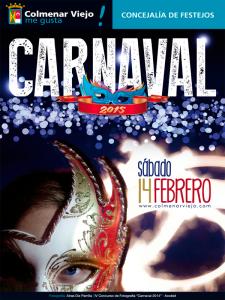 Carnaval 2015 Colmenar Viejo | Comunidad de Madrid | Cartel