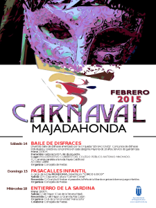 Carnaval Majadahonda 2015 | Comunidad de Madrid | Cartel