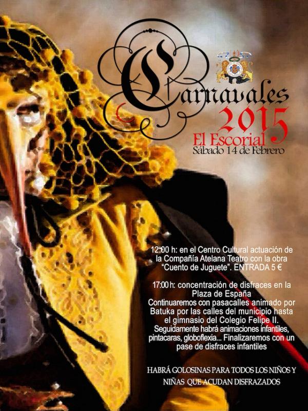 Carnavales 2015 El Escorial | Comunidad de Madrid | Cartel