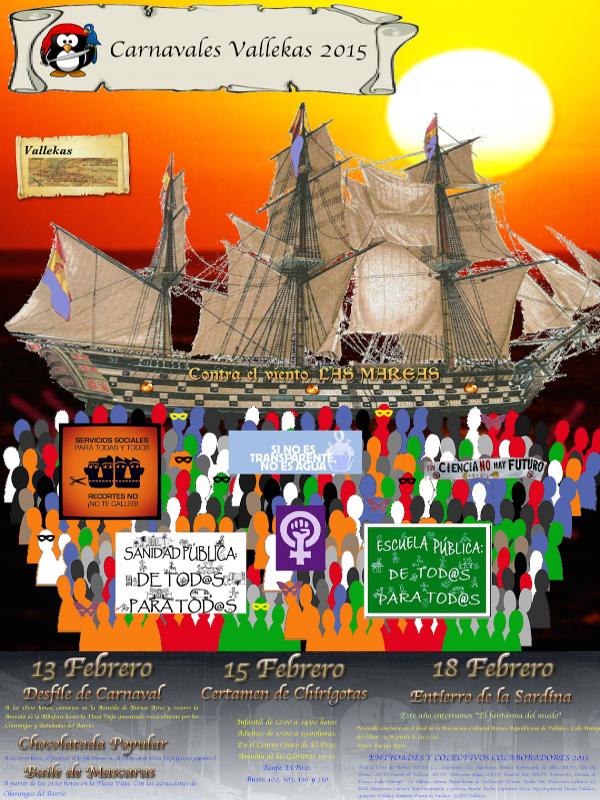 Carnavales Vallekas 2015 | Distrito Puente de Vallecas | Madrid | Cartel
