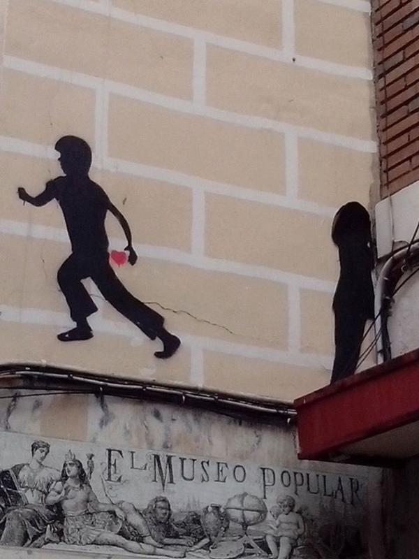 Especial 'Día de los Enamorados' | Graffitis de Madrid | Calle de Santa Ana | El Rastro - Lavapiés | Madrid | Febrero 2015