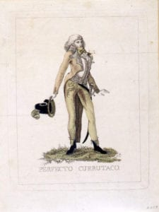 Perfecto currutaco | Grabado de finales del siglo XVIII | Museo de Historia de Madrid