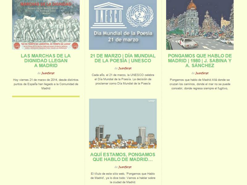 4 primeros artículos de PqHdM del 21 de marzo de 2014