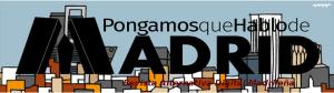 Cabecera PqHdM RADM 2015 | Logo: Paula Díaz | Fondo Skyline Madrid: Cállate la boca