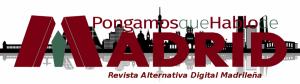Cabecera PqHdM RADM 2015 | Logo: Paula Díaz | Fondo Skyline Madrid: Murales y Vínilos