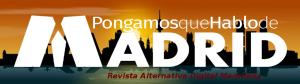 Cabecera PqHdM RADM 2015   Logo: Paula Díaz   Fondo Skyline Madrid Noche: Murales y Vínilos