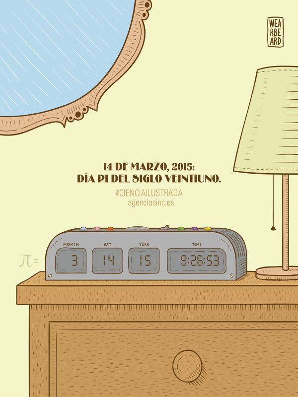 El 14 de marzo de 2015 a las 9:26:53, vive con Pi (π) el momento más friki del siglo XXI | (CC) Wearbeard - Agencia SINC