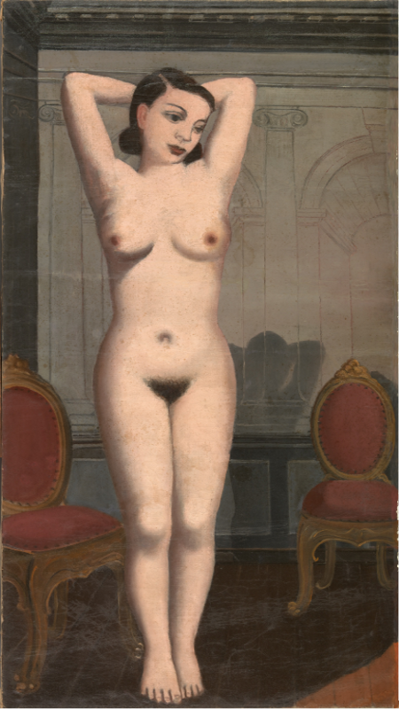 ¿El incendio? (¿1935?) | Paul Devaux | Óleo sobre lienzo | 139,6x75,5 cm | Musées Royaux des Beaux Arts de Belgique | Bruselas - Bélgica | Foto: J. Geleyns/Ro Scan | © VEGAP