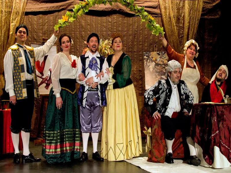 En 'Figaro quà, Figaro là', 5 cantantes y 2 actores de reparto interpretan la ópera bufa de Rossini 'El barbero de Sevilla' | FB