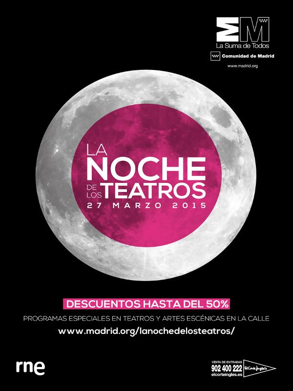 La Noche de los Teatros 2015 en la Comunidad de Madrid | Cartel