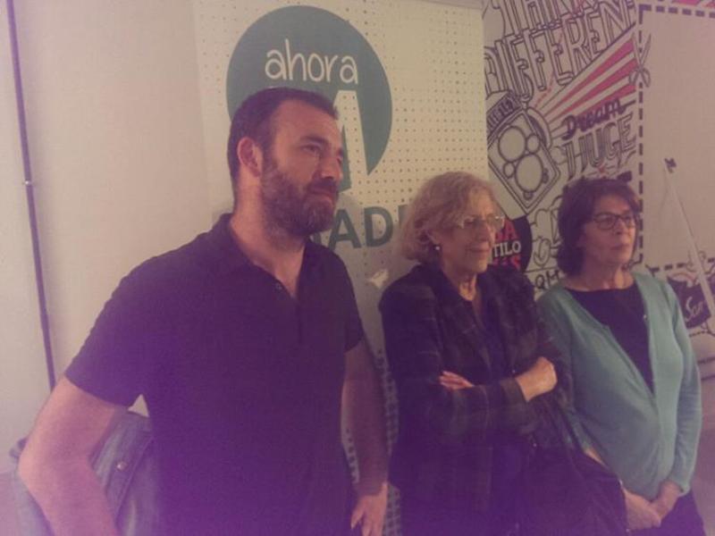 Manuela Carmena, Nacho Murgui e Inés Sábanes encabezan la candidatura de Ahora Madrid al Ayuntamiento de Madrid