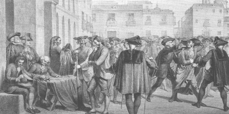 'Motín de Esquilache' (1766) | Grabado siglo XIX | Fuente: Wikimedia