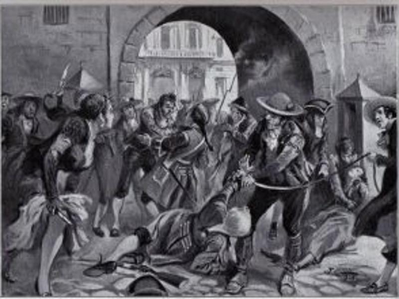 'Motin de Esquilache' en Madrid (1766)