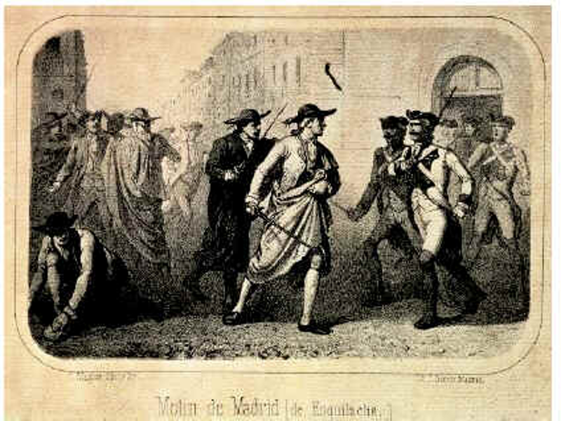 'Motín de Madrid o de Esquilache' (1766) | Grabado siglo XIX
