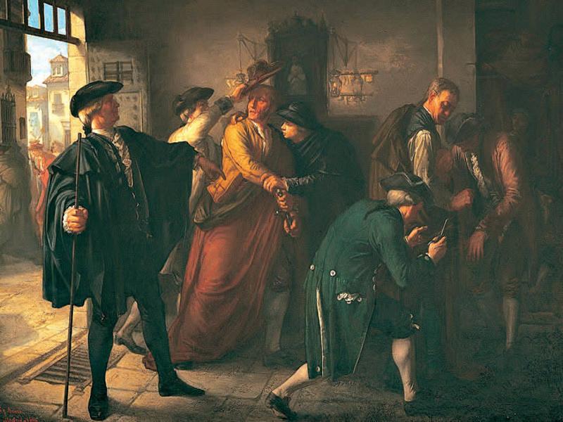 'Un episodio del Motín de Esquilache' | José Martí y Monsó | 1864 | Óleo sobre lienzo | 73x110 cm | Fuente: Wikimedia