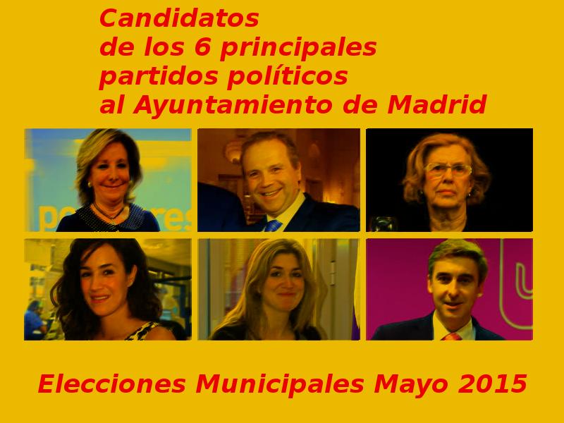 Candidatos de los 6 principales partidos políticos | Elecciones Municipales Mayo 2015