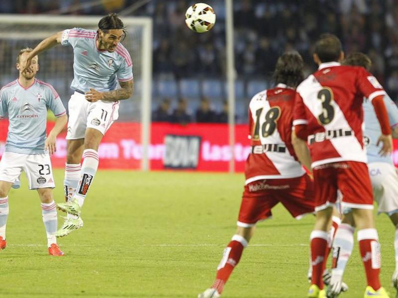El Celta le marcó 6 goles al Rayo Vallecano en Balaídos el sábado (11-04-2015)