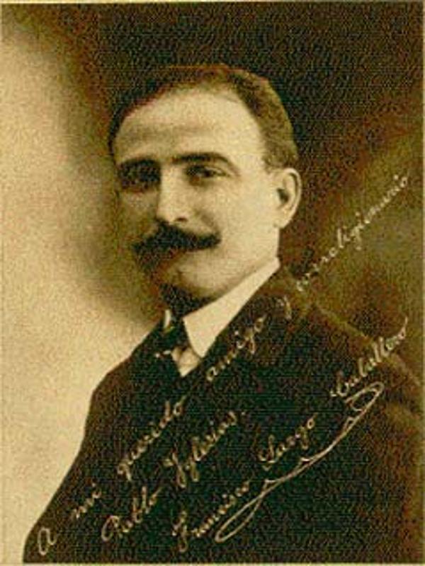 Francisco Largo Caballero en 1909 | Foto dedicada a Pablo Iglesias | Fuente: Portal UGT.org