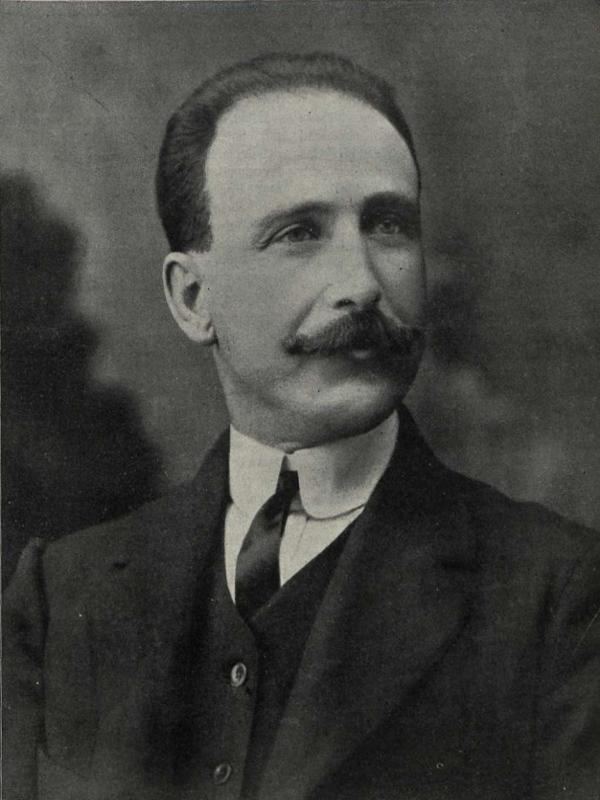Francisco Largo Caballero, presidente de la Agrupación Socialista Madrileña y vocal del Instituto de Reformas Sociales | Foto: Vida Socialista nº 59 - 12 de febrero de 1911