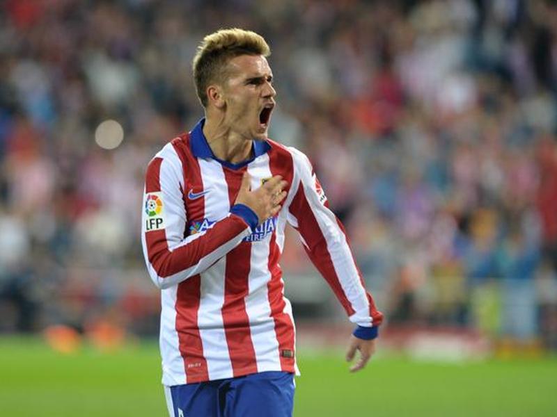 Griezmann firmó su tercer 'hat-trick' consecutivo en el encuentro Atlético de Madrid vs. Elche del sábado (25-04-2015)