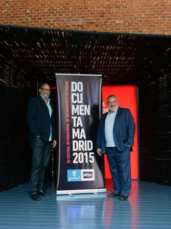 Pedro Corral y Mikel Olaciregui en la presentación de 'Documenta Madrid 2015' en Matadero Madrid