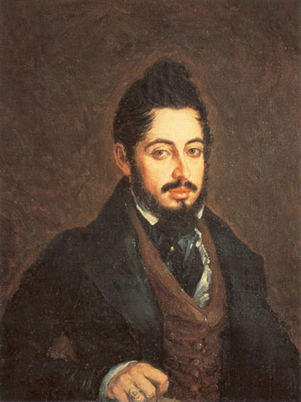 Retrato de Mariano José de Larra por José Gutierrez de la Vega (1837) | Museo del Romanticismo de Madrid