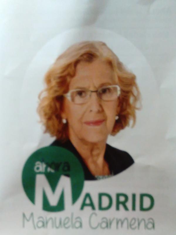 Ahora Madrid | Manuela Carmena | Elecciones municipales | Mayo 2015