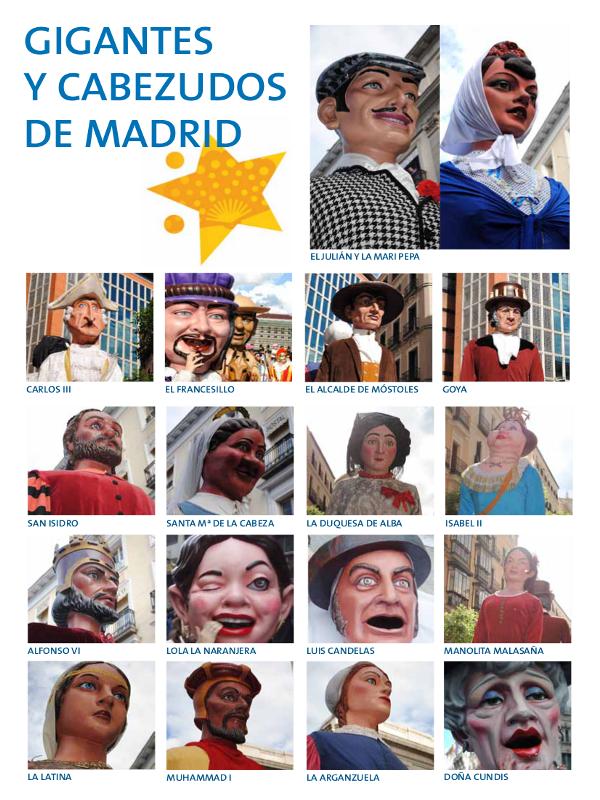 Gigantes y Cabezudos Personajes Típicos Madrileños | Fiestas de San Isidro 2015 | Madrid