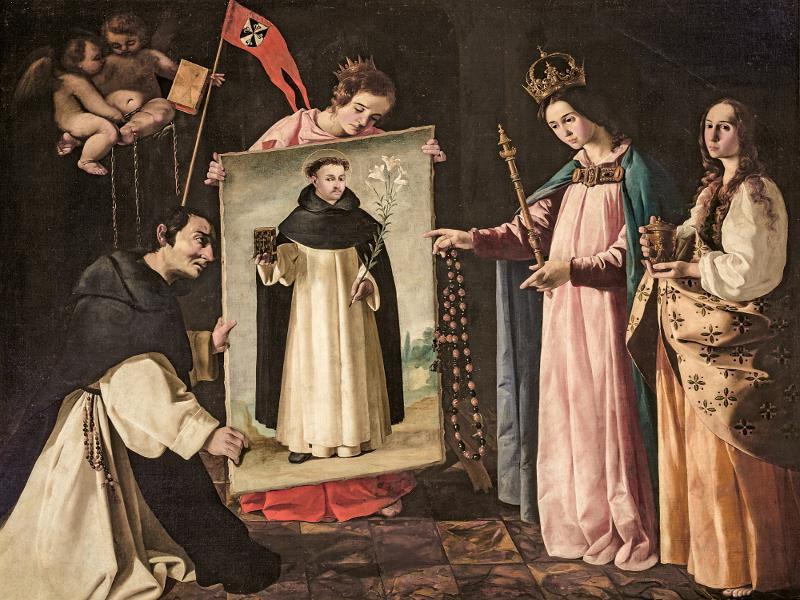 'Santo Domingo en Soriano' (c. 1626-1627) de Francisco de Zurbarán | Iglesia parroquial de Santa María Magdalena (Sevilla) | Exposición 'Zurbarán: una nueva mirada' | Museo de Arte Thyssen-Bornemisza | Madrid 2015
