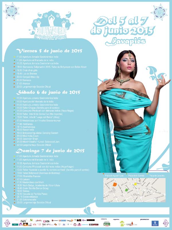 Bollymadrid 2015   5,6 y 7 de junio de 2015   Lavapiés - Madrid   Programa