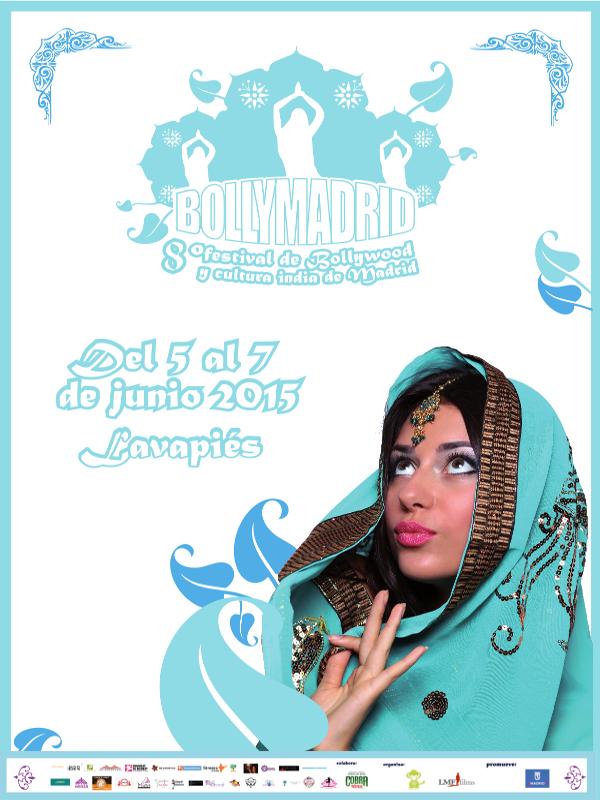 Bollymadrid 2015   5,6 y 7 de junio de 2015   Lavapiés - Madrid   Cartel