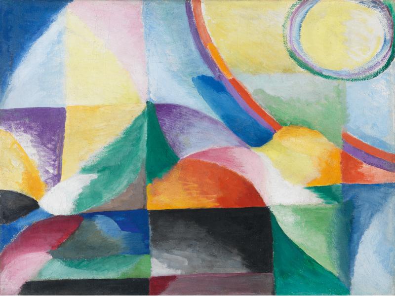 'Contrastes simultáneos' (1913) de Sonia Delaunay-Terk | Instalación ‹miradas cruzadas› 11: Arte y Ciencia | Museo Thyssen Bornemisza | Madrid
