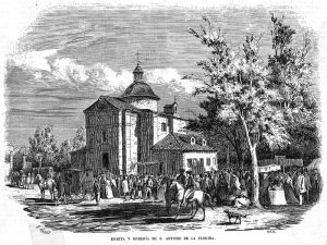 Ermita y romería de San Antonio de la Florida de Madrid | Grabado de 1857 de 'El Museo Universal'