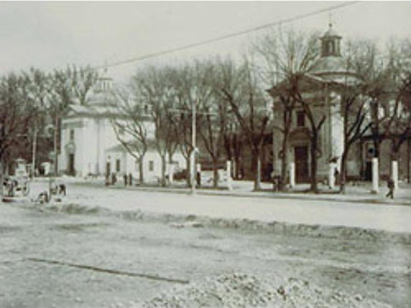 Ermitas gemelas de San Antonio de la Florida hacia 1930 | Foto: Museo Municipal de Madrid