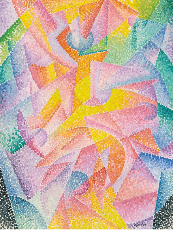 'Expansión de la luz (Centrífuga y centrípeta)' (c. 1913-1914) de Gino Severini | ‹miradas cruzadas› 11: Arte y Ciencia | Museo Thyssen Bornemisza | Madrid