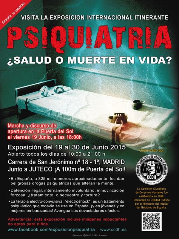 Exposición 'Psiquiatría ¿Salud o Muerte? | CCDH | Madrid | Del 19 al 30 de junio de 2015 | Cartel
