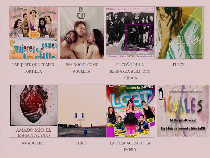 'Iguales' | La semana más orgullosa de Nave 73 | Ciclo dedicado a las artes escénicas de-temática LGTB | Del 27 de junio al 5 de julio de 2015 | Programación