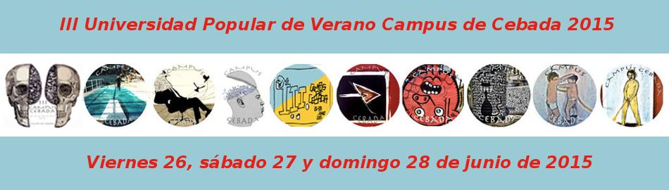 III Universidad Popular de Verano | Campus de Cebada | Barrio de La Latina | Madrid | 26, 27 y 28 de junio de 2015 | Portada
