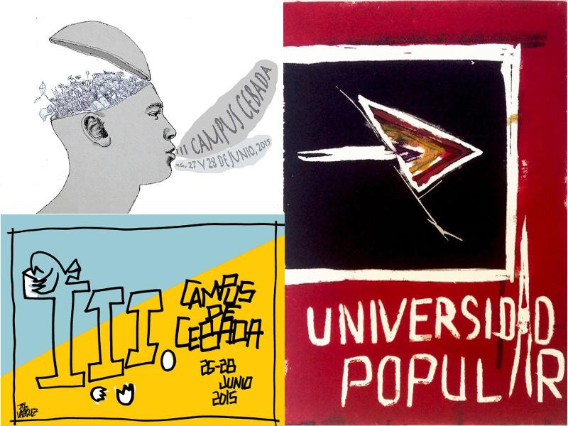 III Universidad Popular de Verano | Campus de Cebada | Barrio de La Latina | Madrid | Carteles