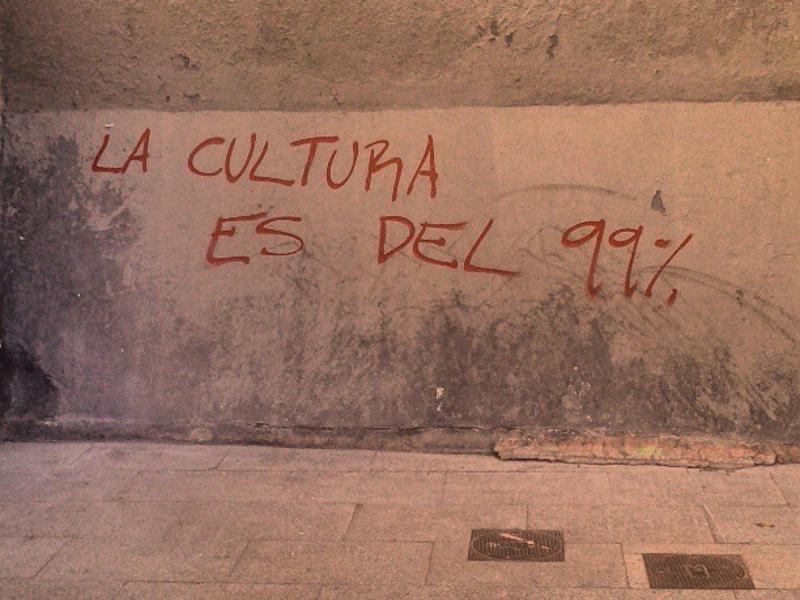 La Cultura es del 99 % | Foto Ahora Madrid Cultura