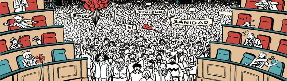 Marea Democracia   Manuela Carmena abre el Salón de Plenos del Ayuntamiento de Madrid a los ciudadanos   Fuente: Movimiento por la Democracia   Portada