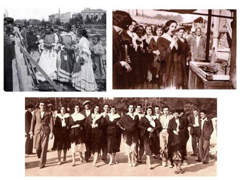 Modistillas en la Verbena de San Antonio de la Florida de Madrid en diferentes años del siglo XX