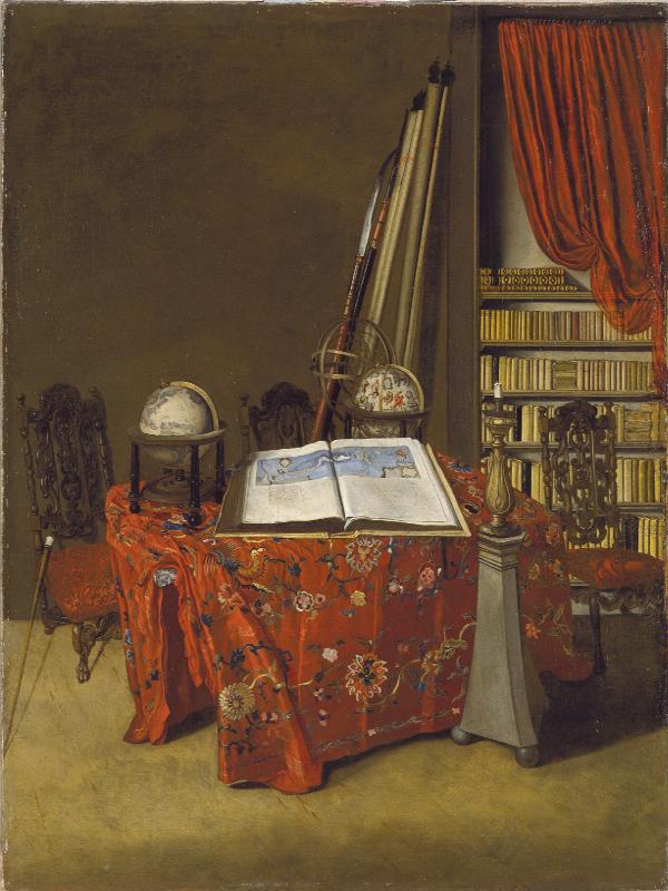 'Rincón de una biblioteca' (1711) de Jan Jansz. van der Heyden | ‹miradas cruzadas› 11: Arte y Ciencia | Museo Thyssen Bornemisza | Madrid