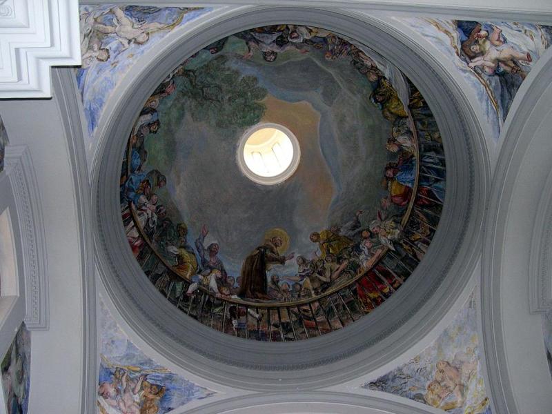 Trampantojo de Francisco de Goya en la cúpula de la ermita de San Antonio de la Florida de Madrid
