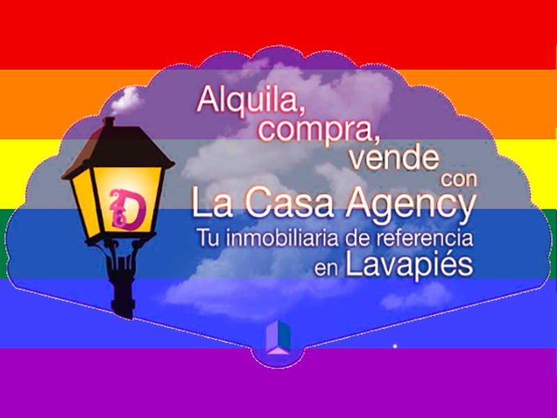 Abanico La Casa Agency Lavapiés - Fundación 26 de Diciembre | Madrid Orgullo MADO 2015 | Anverso
